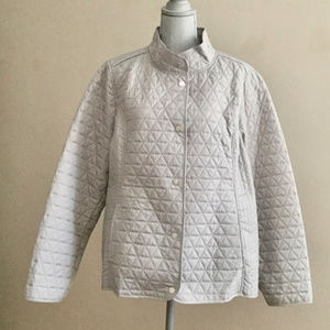 Isaac Mizrahi Live! Silver Quilted Jacket
